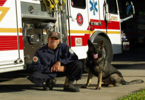 FF Chris Martin and Canine Luther