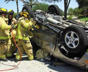 Estero Fire Rescue Responds to Vehicle Rollover